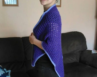Beautiful Dark Purple Shawl Wrap 56x36