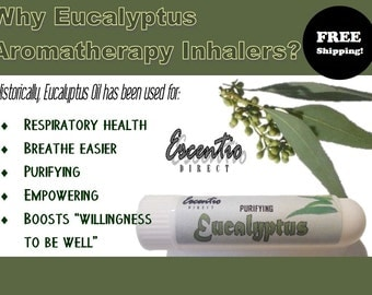 Eucalyptus Inhaler (Aromatherapy * Spa * Pure Essential Oil) Free Shipping in US / Headaches / Respiratory / Circulatory