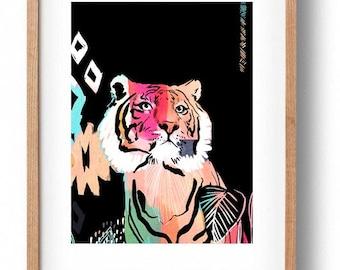 Okay Luna 'Tiger' Print A3