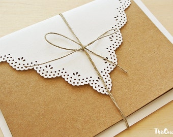 Lace Envelopes. Romantic Wedding Envelopes. Set of Envelopes