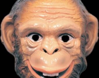 Handmade Monkey Mask, Custom Party Mask, Costume Mask, Costume Party Accessories, Handmade Mask, One size