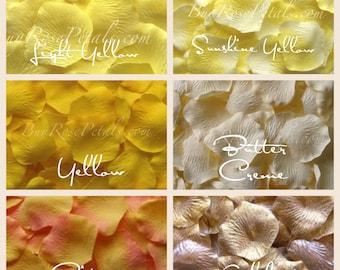 5,000 Yellow Rose Petals - Free Shipping USA - Silk Rose Petals