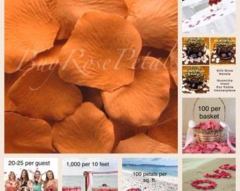500 Maple Rose Petals - Silk Rose Petals for Weddings. Flower Girl Baskets, Petal Toss