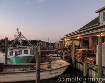 marina photograph boats dock fishing photography 8x10 11x14 16x20