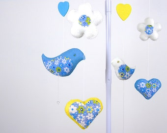 Baby Crib Mobile, Birds Baby Mobile, Nursery Decor, Ready to Ship, Gift Packaging