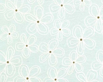 Wee Sparkle by Michael Miller - Lacey Daisy Mist - Cotton Woven Fabric - CLEARANCE