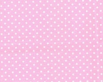 Pink Polka Dot Canvas, 100% Cotton Canvas Fabric by Fat Quarter
