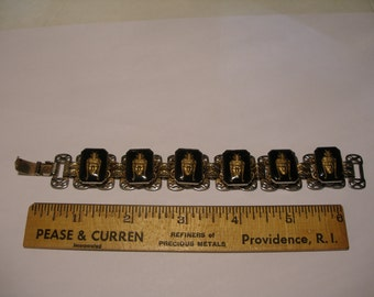 Thai Warrior Figure Panel Bracelet(231)