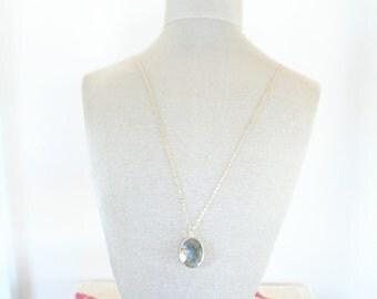 Labradorite Gem Pendant Necklace
