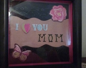 Mothers day inspirational shadow box