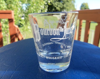 Vintage Bourbon de Luxe Kentucky Whiskey Shot Glass