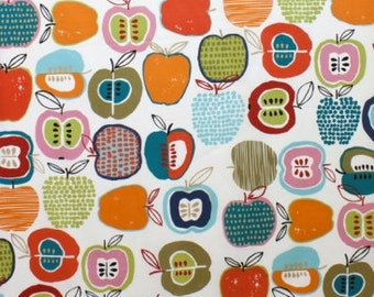 Laminated cotton fabric aka oilcloth Alexander Henry Apple of My Eye Natural Bright