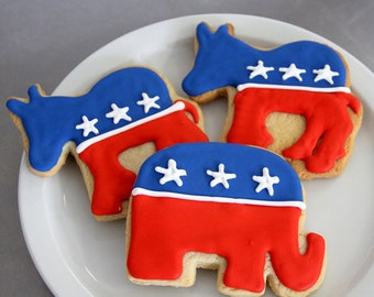 """Elephant 3.25"""" Cookie Cutter - Republican Election Year Vote Donald Trump 2016"""