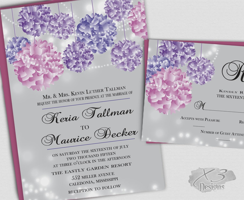 Summer Wedding Invitations: Summer Wedding Invitations DIY Rustic Wedding Invitations