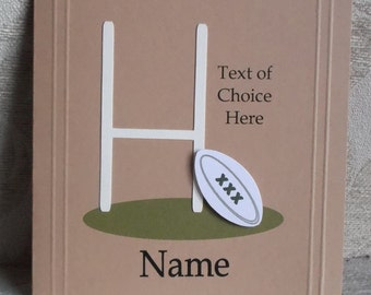 Personalised Rugby Card Any Occasion, Birthday, Congratulations, Thank You Father's Day etc.