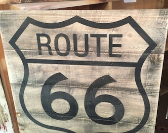 Rustic Vintage Style Route 66 Sign