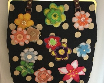 Up Cycled Womens Shoulder Bag, Handmade, One Of A Kind
