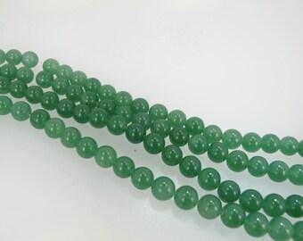 Green aventurine beads 8mm. Aventurine round beads. Smooth. Natural. Full strand