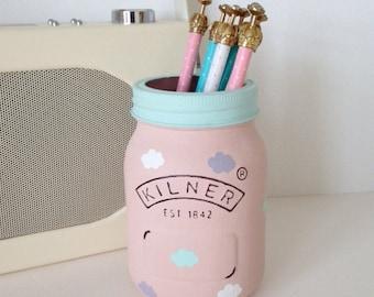 Hand painted Kilner jar