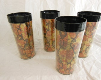 Thermo-Serv Insulated Glasses, Set of 4 - Vintage