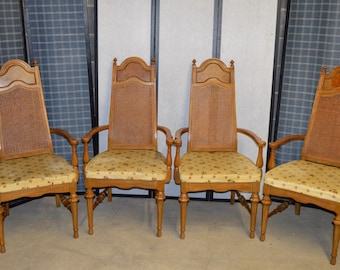 4 Vintage Mid Century Style Arm Chairs