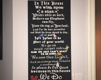 In This House We Do Disney House Rules Vinyl Wall Decal