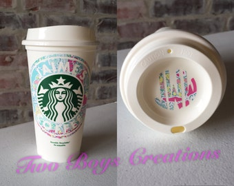 Personalized Lily P Inspired Starbucks Cup