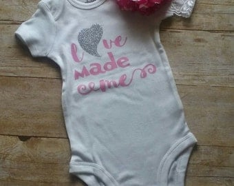 3-6 month baby girl onesie with bow