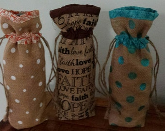 Wine Gift Bags 4 for 15 Burlap