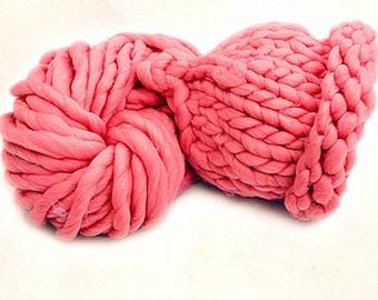 Knitting Yarn Cotton Roving Knit Yarn Pink Bulky Yarn For Scarf Hat Blanket Crochet Yarn Supplie 250 gr. Skeins y04p