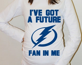 Tampa Bay Lightning Shirt Tampa Bay Lightning Baby Long Sleeved Hockey Baby Girl Maternity Shirt Pregnancy New Baby Baby Shower