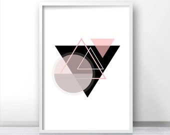Digital Download Print, Instant Download Printable Art, Modern Wall Art Print, Printable Abstract Art, Geometric Art Print, Home Decor Print