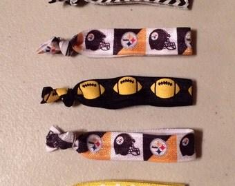 Pittsburgh Steelers Elastic Hair Ties