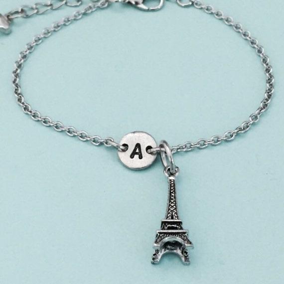 eiffel tower charm bracelet eiffel tower charm by toodaughters