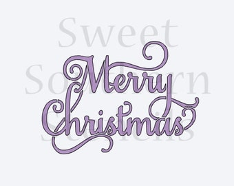 Fancy Merry Christmas Cookie Stencil