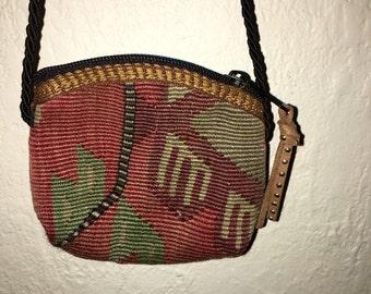 Vintage kilim rug toddler purse ONE OF A KIND