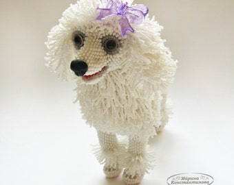 "Pattern / Tutorial Beaded Ornament -Master class to create ""Poodle Vanessa"""