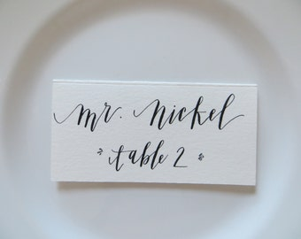 Custom Handwritten Place Cards & Labels