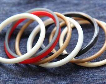 Set of Plastic Fashion Bangle Bracelets