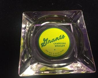 Rare Vintage 1960's Grant's Charcoal Broiler 34th & Sloat San Francisco Ashtray