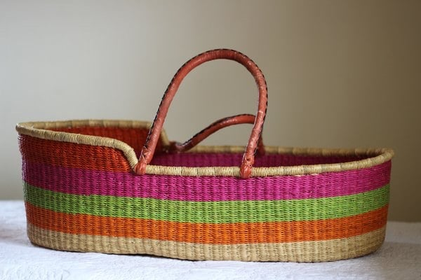 How To Weave A Moses Basket : African woven moses basket fair trade
