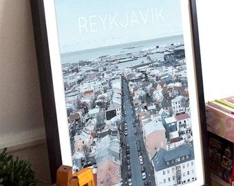 Reykjavik, Iceland Poster 11x17 18x24 24x36