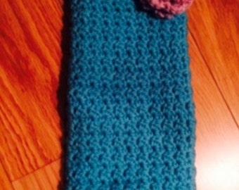 Wine bottle crochet bag