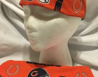 Chicago Bears headband orange