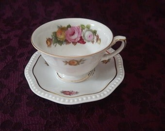 Little and lovely Rosenthal Bavaria demitasse cup and saucer, floral basketweave (extra saucer free!),