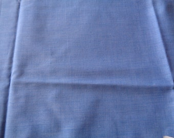 1/2 yard blue denim look broadcloth remnant