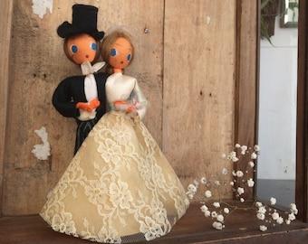 Antique bridegrooms dolls