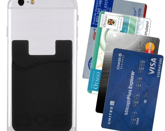 Card Holder Adhesive Attachment for Cellphone