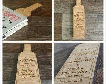 Wine wooden bookmark ideal for Mother's day gift
