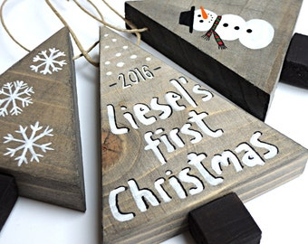 Baby keepsake, Babys first Christmas ornament, Personalized baby gifts, Baby first Christmas decor, Custom made signs, New baby, a lot of 3